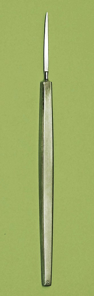 Albrecht von Graefe - Cataract knife according to Graefe