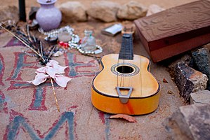 Gram Parsons - Parsons' makeshift memorial in Joshua Tree, California