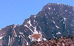 A mountain goat below Granite Peak.