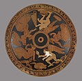 Greek - Red-figure Pyxis and Cover with Women and Erotes - Walters 48264 - Top.jpg