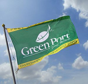 "English: ""Green Port"" flag of the Po..."
