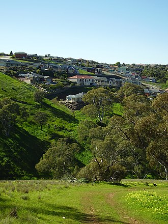 Greenwith, South Australia - Part of Greenwith from adjacent Cobbler Creek Recreation Park