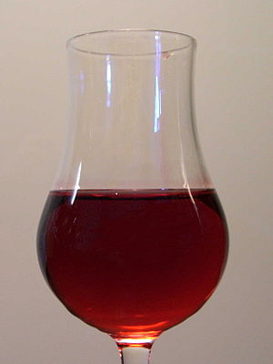 Grenadine - A glass of grenadine