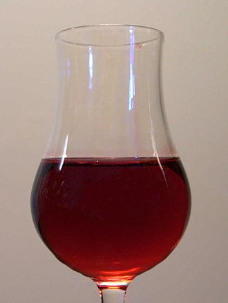 Grenadine - A glass of grenadine