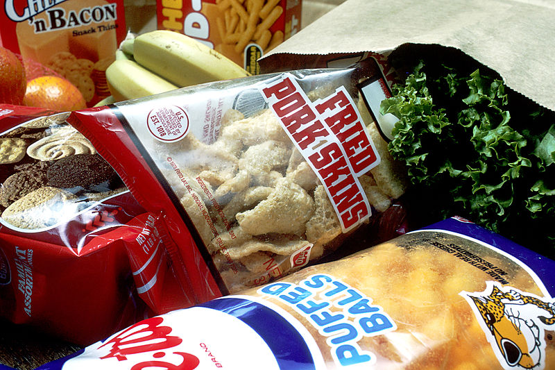 File:Grocery bag of junk foods.jpg