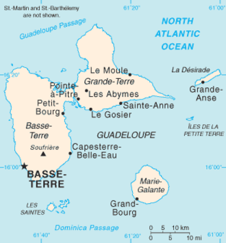 La Désirade - Guadeloupe, with La Désirade in the northeast