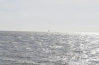Gunfleet Lighthouse - Distant view taken in 2010
