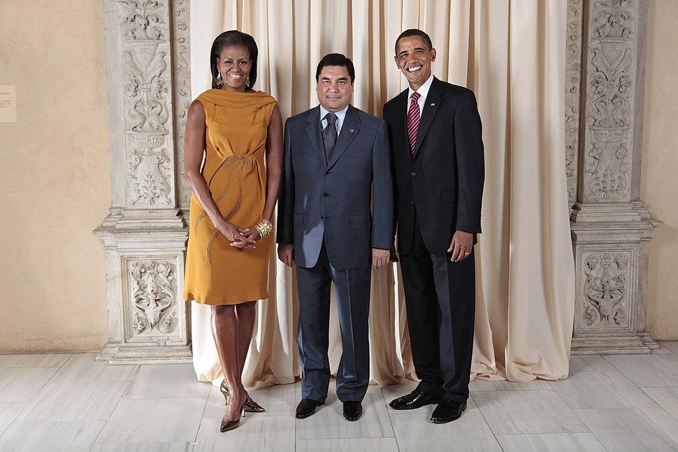 Gurbanguly Berdimuhammedov with Obamas