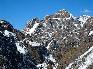 Gurvan Saikhan Mountains - Peaks of Zuun Saikhany Nuruu after a September snowstorm