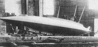 Submarine forces (France) - Gymnote launched in 1888 was the first all electric submarine equipped with batteries. The boat's crew consisted of five men.