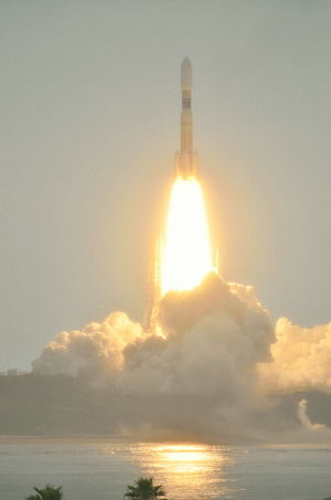 Kounotori 3 -  The H-IIB rocket carrying Kounotori 3 lifts off from the Tanegashima space center on 21 July 2012.
