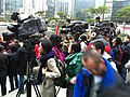 HK Admiralty Voice of Loving Hong Kong media people at work Jan-2013.JPG