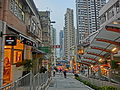 HK SYP Centre Street evening Escalators n sidewalk shops Mar-2014 ZR2.JPG