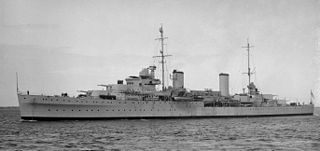 HMAS <i>Hobart</i> (D63) 1936-1962 modified Leander-class light cruiser of the Royal and Royal Australian Navies