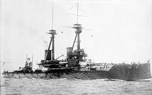 HMS Bellerophon (1907) - Image: HMS Bellerophon LOC ggbain 16725