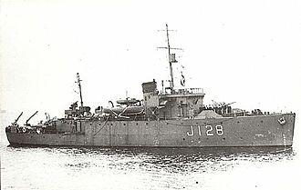Bangor-class minesweeper - Image: HMS Cromer J128