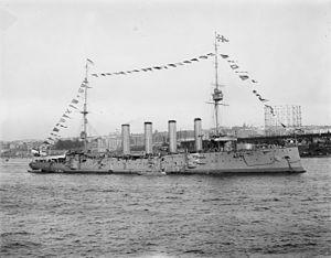 Drake-class cruiser - Image: HMS Drake 1909 LOC det 4a 19535 (uncropped, full size)