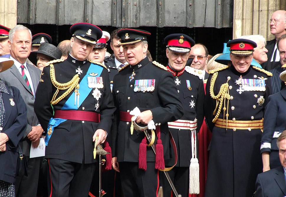 HRH Duke of York, Major General JNR Houghton CBE, Lord Crathorne Lord Lieutenant Of N Yorkshire, General FR Dannatt CGS (RLH)