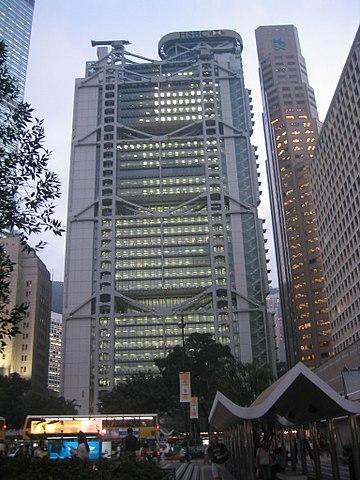 香港にある香港上海銀行香港と環太平洋本部ビル