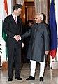 HSHH Prince Alois of Liechtenstein meeting the Vice President, Shri Mohd. Hamid Ansari, in New Delhi on November 15, 2010.jpg