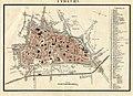HUA-212040-Plattegrond van de stad Utrecht met directe omgeving met weergave van het stratenplan deels met straatnamen wegen en watergangen en aanduiding van de .jpg