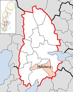 Hallsbergs kommunes beliggenhed i Örebro amt