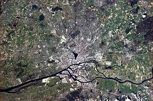 Hamburg - Hamburg, seen from the International Space Station