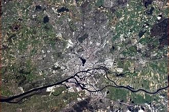 Hamburg - Hamburg, seen from the International Space Station