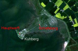 Hamburger Hallig - Hamburger Hallig with salt marshes and artificial hills