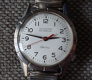 Electric watch - Hamilton electric watch. This model has a Hamilton caliber 505 (Moving coil system, contact controlled)
