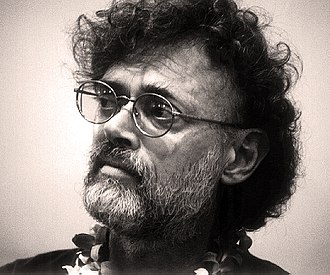 Terence McKenna - Terence McKenna during a panel discussion at the 1999 AllChemical Arts Conference, held at Kona, Hawaii.