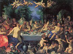 Hans Rottenhammer - Götterfest, Hochzeit von Peleus und Thetis (Ermitage)