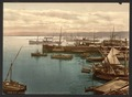 Harbor by moonlight, I, Algiers, Algeria-LCCN2001697803.tif