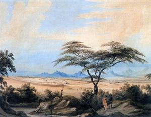Northern Ndebele people - A Matabele kraal, as depicted by William Cornwallis Harris, 1836