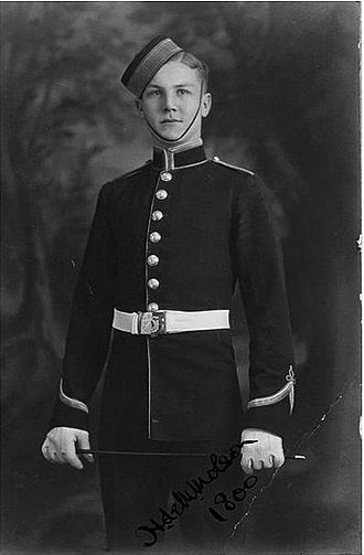 Hartland Molson - Portrait in the 1920s as a RMC cadet