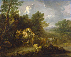 "Frank Porter Wood - ""The Harvest Wagon"" by Thomas Gainsborough, donated to the Art Gallery of Ontario in 1955 by Wood."
