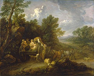 """Frank Porter Wood - """"The Harvest Wagon"""" by Thomas Gainsborough, donated to the Art Gallery of Ontario in 1955 by Wood."""