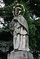 Havířov, Životice, socha sv. Jana Nepomuckého před zámkem (3).JPG