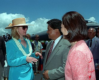 Ben Cayetano - Cayetano with Hillary Clinton in 1995
