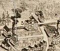 Hazelwood station on 1890 bird's eye view map of Hyde Park, Massachusetts.jpg