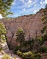 Head of Slot Canyon Trail at Tent Rocks (6340421071).jpg