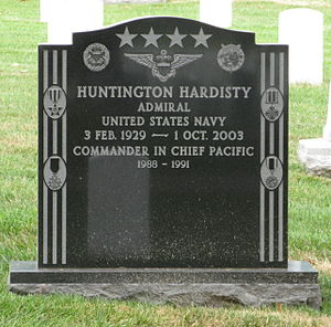 Huntington Hardisty - Headstone of Huntington Hardisty at Arlington National Cemetery.