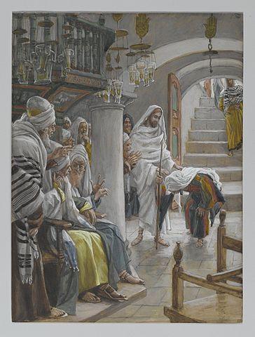 Christ healing an infirm woman by James Tissot, 1886-1896