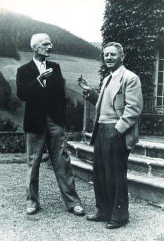 Heinz Hopf - Heinz Hopf (on the right) in Oberwolfach, together with Hellmuth Kneser