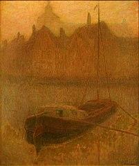 Barque sur le Canal (matin) (Boot op het Kanaal ('s morgens))