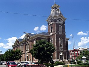 Das Henry County Courthouse in New Castle, gelistet im NRHP Nr. 81000013[1]