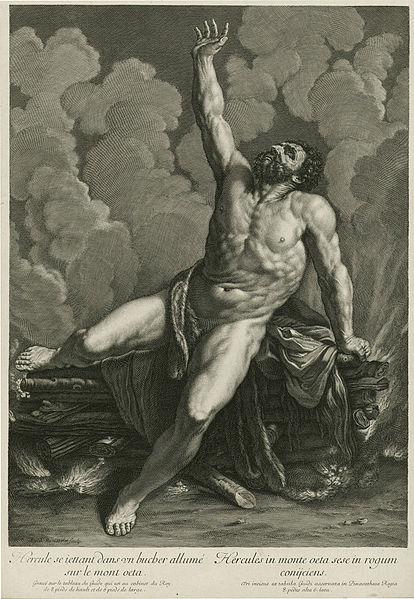 File:Hercules Sitting on a Burning Pyre on Mt. Eta by Gilles Rousselet.jpg