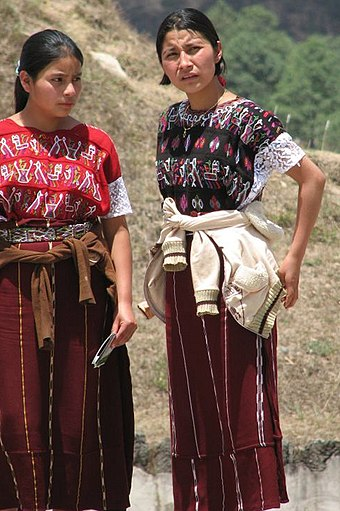 Two Maya women in the highlands of Chiapas Highland Maya Women (crop).jpg