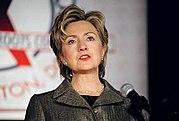 Senator Clinton delivers an address to Families USA