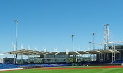 Hillsboro Ballpark June 2013 covered seating - Oregon.JPG
